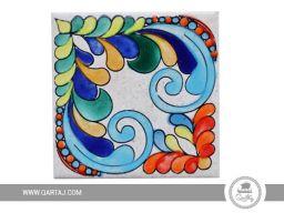 handpainted-tile-ceramic-handmade-coaster-pattern-lines-multicolored-geometric-floral