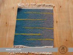 Grey and Turquoise handmade carpet