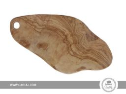 Rustic Olive Wood Board rounded large with hole rustic smooth