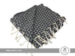 wholesale-tunisian-cotton-fouta-towels-bath-beach-turkish-hammam-beachwear-blanket-peshtemals-geometric-pattern-black-grey