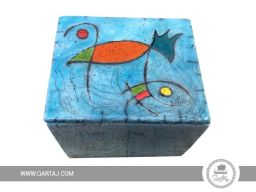 Handmade ceramic box.