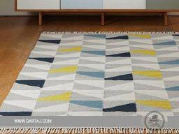 Colorful geometric pattern small carpet.