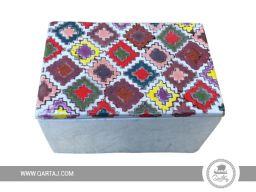 Colorful handmade ceramic box
