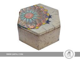 Ceramic box: hexagonal form