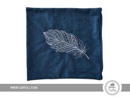 Blue decorative square cover pillow