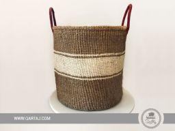 Sisal-kenya-hand-woven-basket-storage-gift-beige-White-leather-african-artisans-handmade-fair-trade-indigenous-sisal-plant-laundry