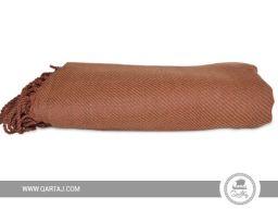 qartaj-blanket-throw-handmade-fringe-cotton-wool-cashmere-dark orange