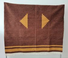 qartaj large rug geometric detail brown yellow