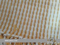 wholesale-tunisian-cotton-blanket-bed-cover-throws-decorative-sofa-beige-texture-blanket-striped-fringe-yellow