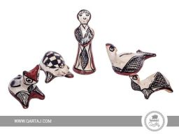 qartaj-pottery-group-dull-fish-turtle-cat-camel-sejnan-handicrafts
