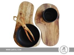 Serving olive wood boards irregular form
