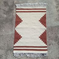 qartaj small kilim rug amazigh geometric warm brown white