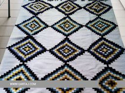 diamond-pattern-wholesale-tunisian-colorful-white-yellow-blue-rug-striped-diamond-geometric-shapes-damask-carpet
