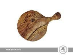 olive wood round handmade in tunisia wood cooking utensils fairtrade cutting Board serving board