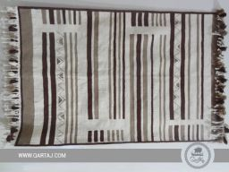 geometric-striped-pattern-wholesale-tunisian-kilim-rug-white-carpet-hand-woven-kilim-hand-knotted-flat-woven-wool-fair-trade-brown-beige-ecru