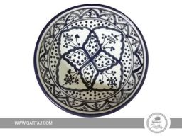 Handpainted-ceramic-handmade-bowl-dark-blue-pattern-moroccan-traditional