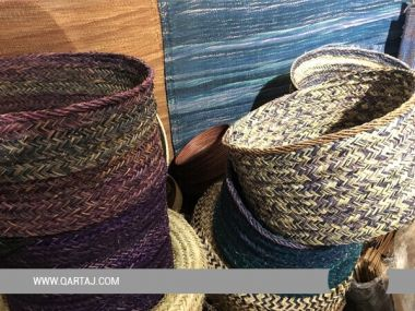 Handwoven Esparto Grass Basket, Fair trade Product