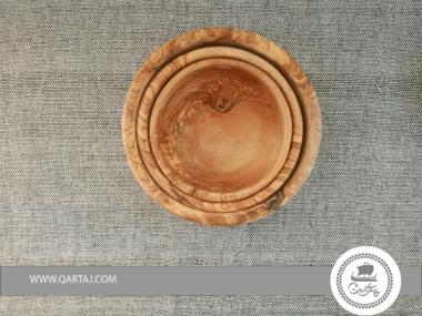 Olive Wood Set of Three Large Nesting Bowls