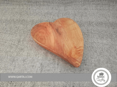 Olive Wood Heart Shaped Serving or Decor Plate Gift
