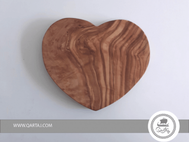Olive Wood medium Heart Shaped Serving Or Decor Plate Gift