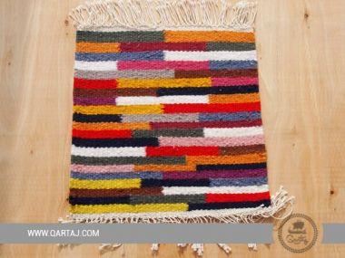 Colorful striped carpet sample