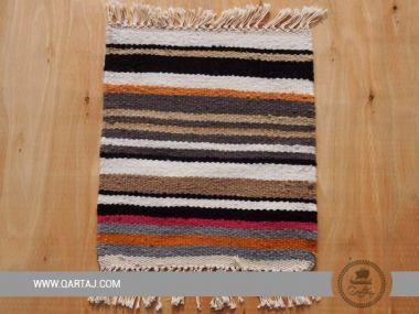 Handwoven striped kesra sample, handmade Artisanal
