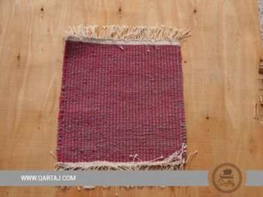 Pink and grey handmade carpet