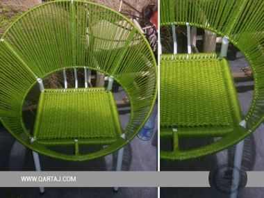 Wholesale Green Halfa Grass Hoop Chair