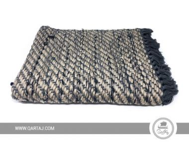 Small Kerkenatiss carpet made with cotton and recycled jean