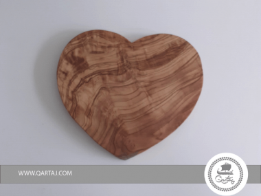 Olive Wood large Heart Shaped Serving Or Decor Plate Gift
