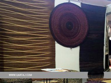 Hand-Woven Esparto Grass Halfa rug/ Fair Trade Rug