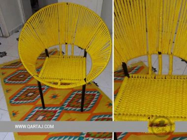 Yellow Hoop Chair, Halfa Vegetal Fiber
