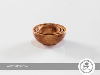 Olive Wood Small Nesting Bowls Set of 3