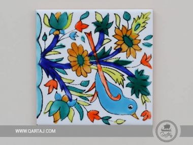 Hand Painted Ceramic Tile Coaster