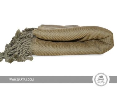 Handmade Fringe Green Cotton Throw / Blanket