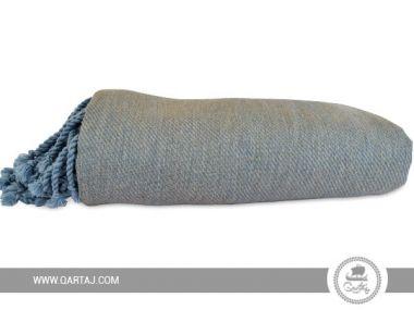 Handwoven Fringe  Blue Throw / Blanket