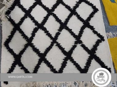Diamond Rug with High Pile Pattern