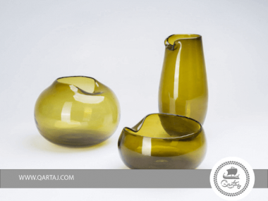 Bowl / Vase  Blown Glass Mouth blown locally transparent glass