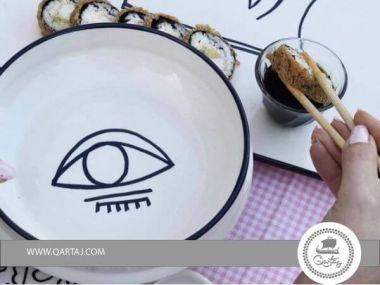 Ceramic deep plate eye Safari