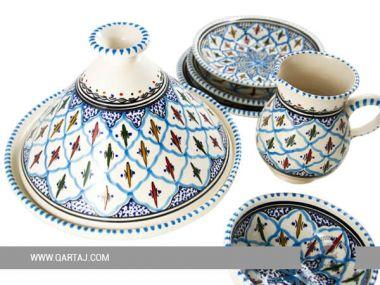 Collection Blue Jilani of dinnerware : Bowls, Tajine and cups