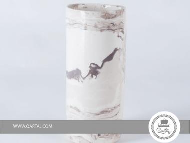 Cylinders, Porcelain, Interiors glazed to insure watertight, handmade in Tunisia