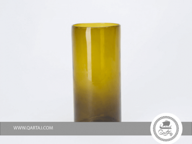 Cylindrical Large Blown Vase  Glass Mouth blown locally available recycled