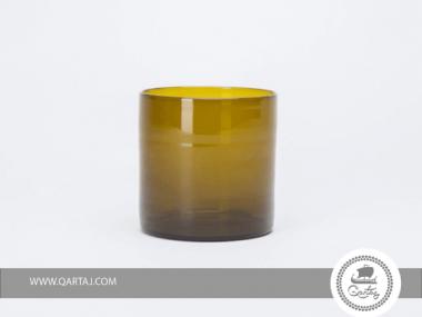 Cylindrical Medium Blown Vase  Glass Mouth blown locally