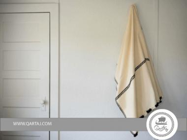 Wool Throw Saida, Bed spread Etandart Handmade