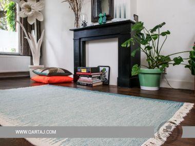 Flat Weave Reversible Berber Rug, Striped Kilim