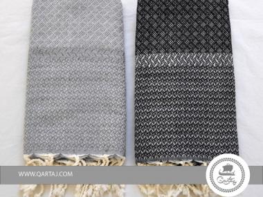 "Fouta ""Losange"" bicolored made in Tunisia, Etandart"
