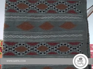 Brown Amazigh Berber Pattern Grey Base Rug