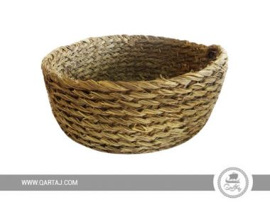 Basket with Natural Fiber Halfa Tunisian Artisanal Product