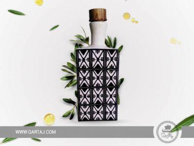 Colorful Bottles White Ceramics, Collection Zagden made in Tunisia