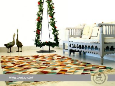 Modern, handmade & Contemporary Multi Color Area Rugs - Tunisian Carpets